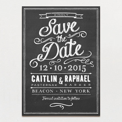 Chalkboard Love Save The Date