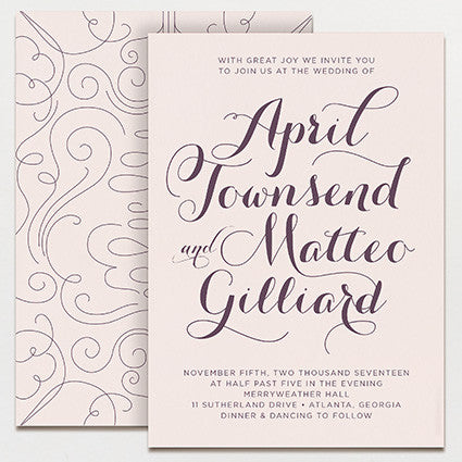 Charleston Wedding Invitation