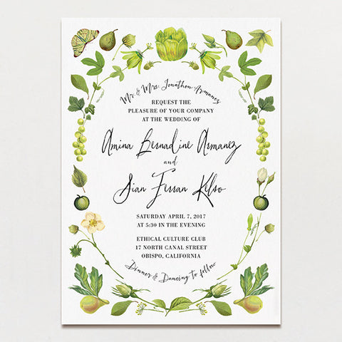 Chartreuse Light Wedding Invitation
