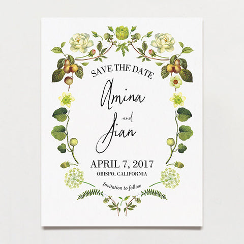 Chartreuse Light Save The Date Postcard