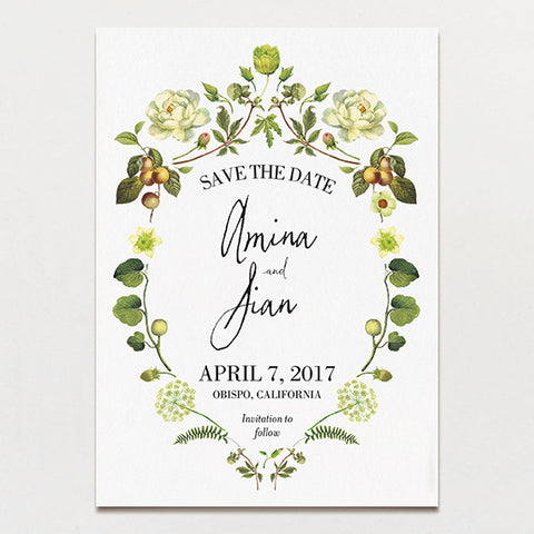 Chartreuse Light Save The Date