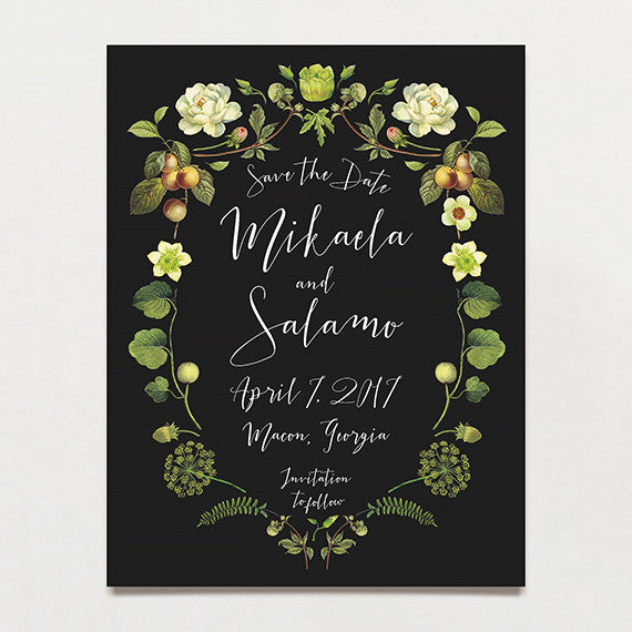 Chartreuse Drama Save The Date Postcard