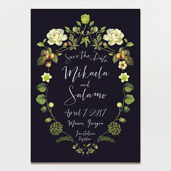 Chartreuse Drama Save The Date