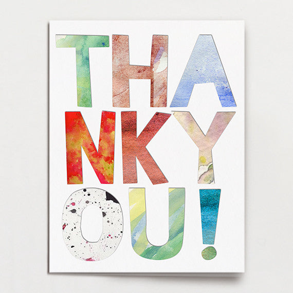 Colorful Kid Thank You Free Printable
