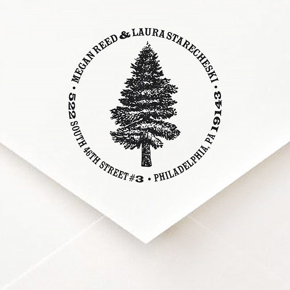 Deep In The Pines Address Stamp - $55