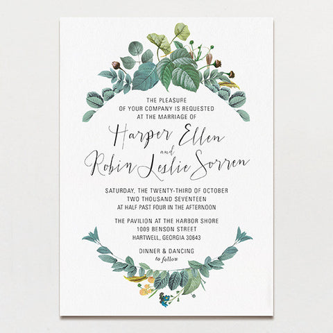 delicately framed wedding invitation - Wedding Invitations Free