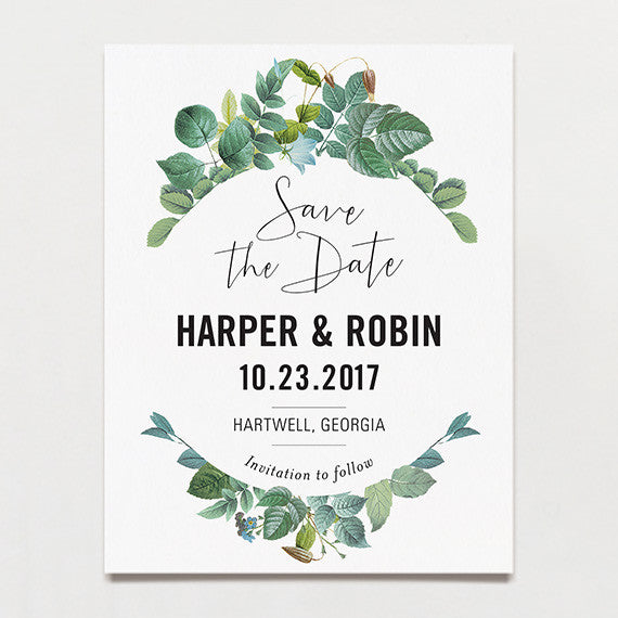 Delicately Framed Save The Date Postcard