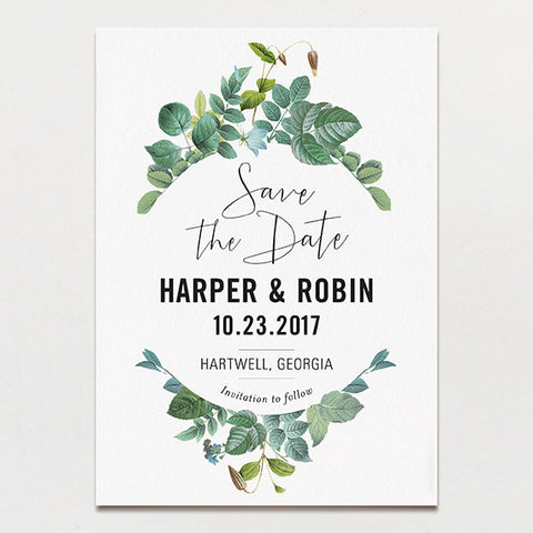 Delicately Framed Save The Date
