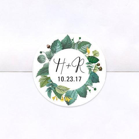 Delicately Framed Logo Stickers