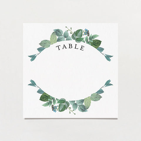 Delicately Framed Table Number