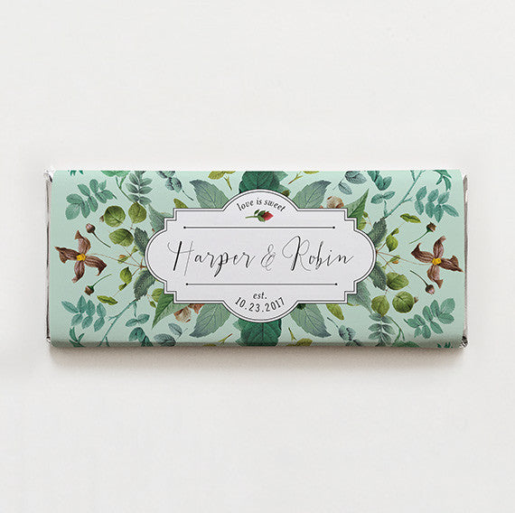 Delicately Framed Printable Candy Bar Wrapper—$14.95