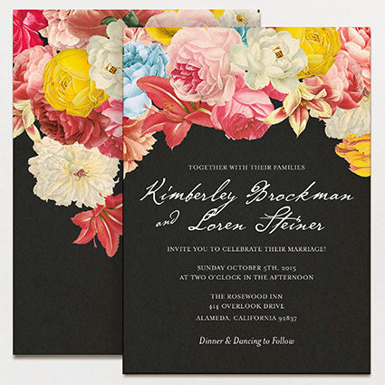 Dramatique Wedding Invitation