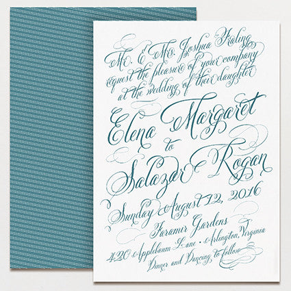 Elena Wedding Invitation