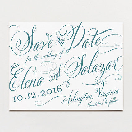 Elena Save The Date Postcard