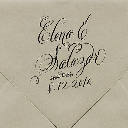 Elena Rubber Stamp - $55