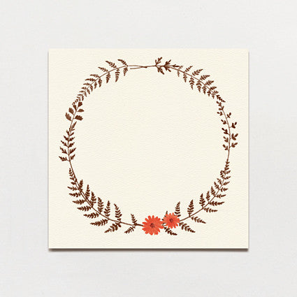 Ferns and Flowers Table Number