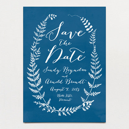 Fern Print Save The Date