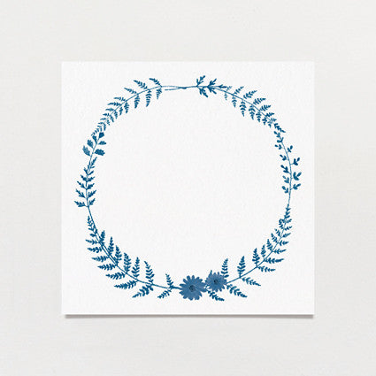 Fern Print Table Number
