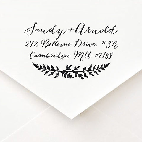 Fern Print Address Stamp - $55