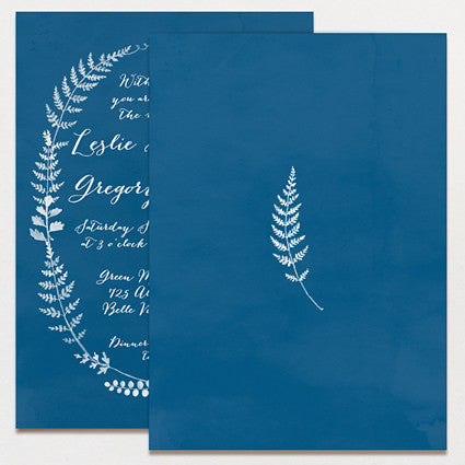 Fern Print Wedding Invitation