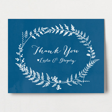 Fern Print Thank You Folded