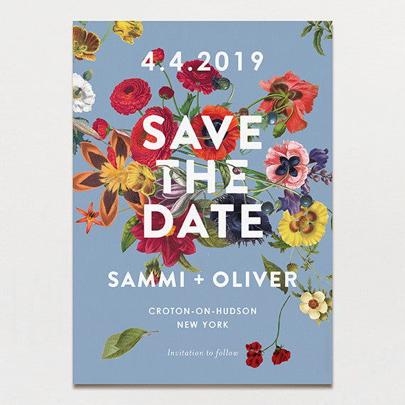 Floral Burst Save The Date