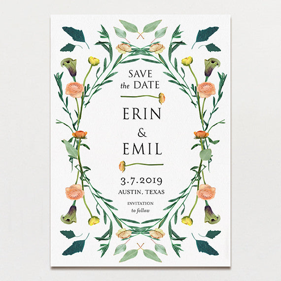 Floral Symmetry Save The Date