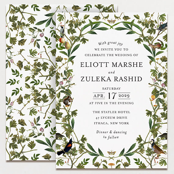 La Foret Wedding Invitation