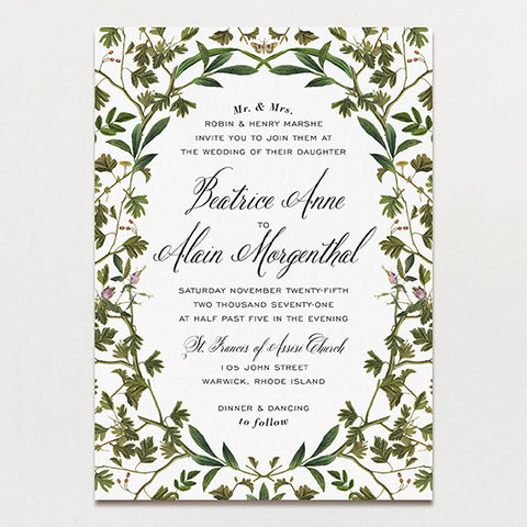 Wedding invitations printable press forest formal wedding invitation junglespirit Gallery