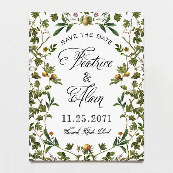 Forest Formal Save The Date Postcard