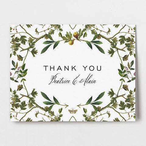 Forest Formal Thank You Folded