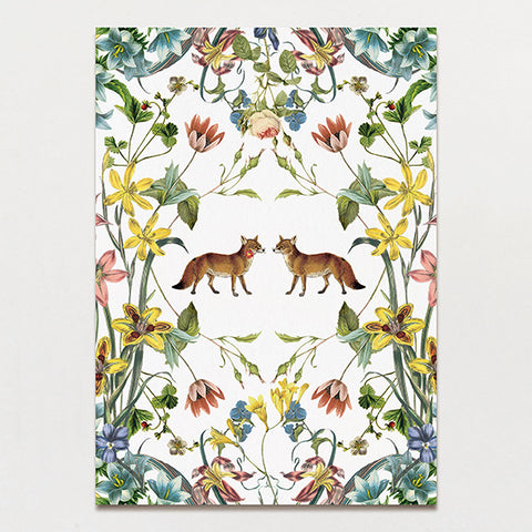 Fox Flowers Backing