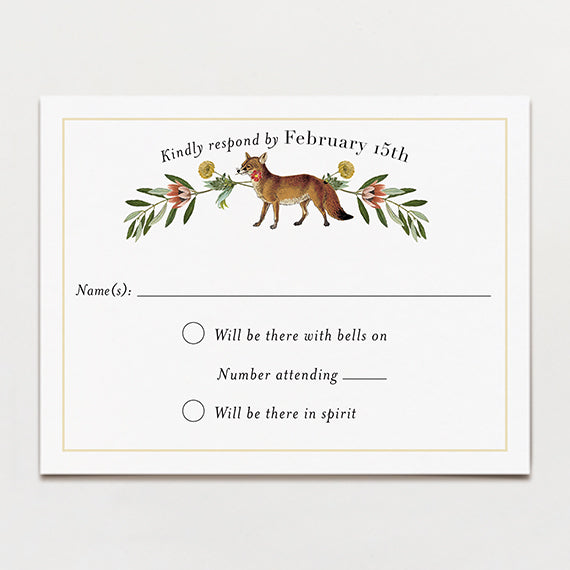 Fox Flowers Response Card