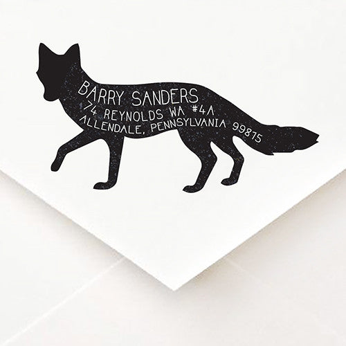 Fox Address Stamp - $55