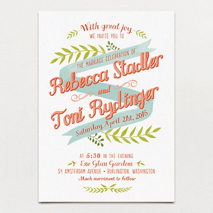 Free Spirit Wedding Invitation
