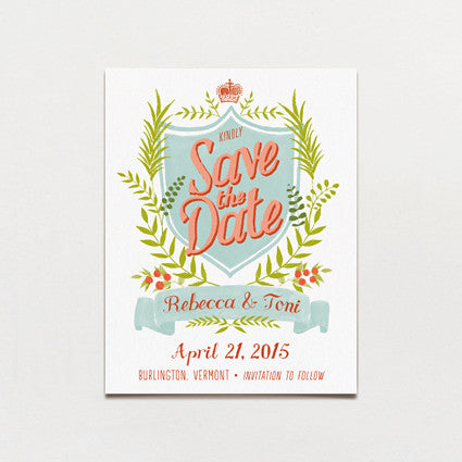 Free Spirit Save The Date Postcard