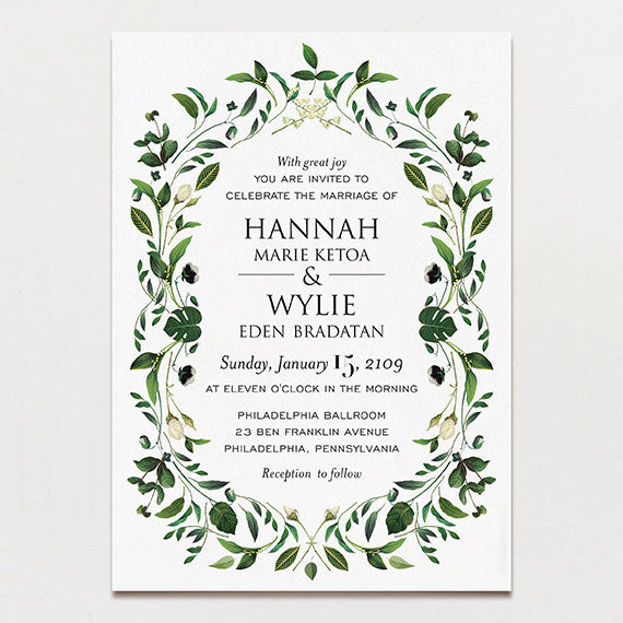 gorgeous greenery wedding invitation printable press With greenery wedding invitations free