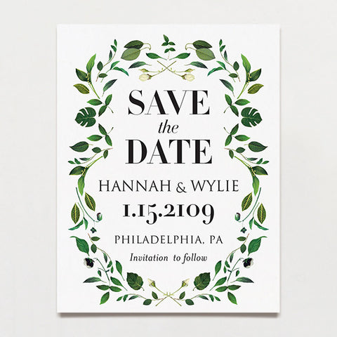 Save the date postcards tagged botanical printable press gorgeous greenery save the date postcard pronofoot35fo Gallery