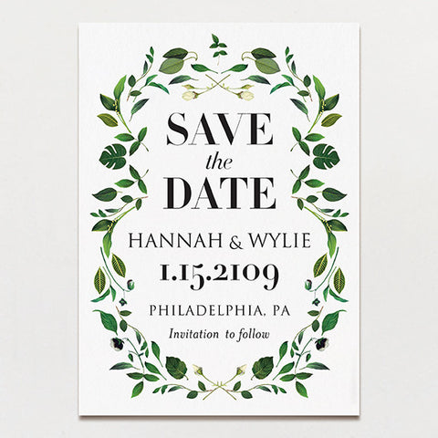 Gorgeous Greenery Save The Date