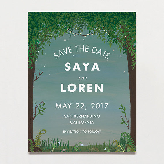 Grove Save The Date Postcard