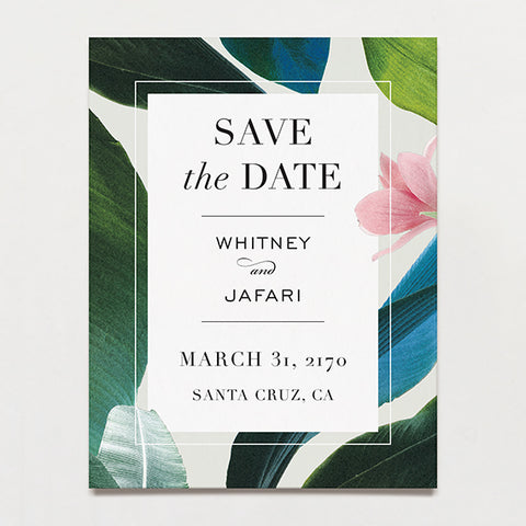 Havana Save The Date Postcard