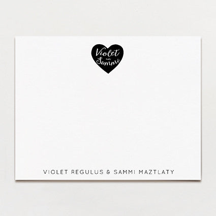 Two Of Hearts Personalized Note Card