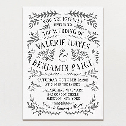 Ink Crush Wedding Invitation