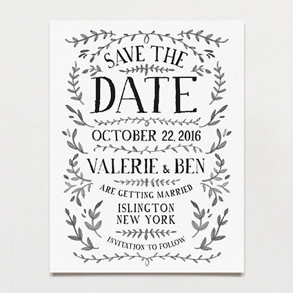 Ink Crush Save The Date Postcard