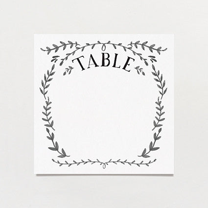 Ink Crush Table Number