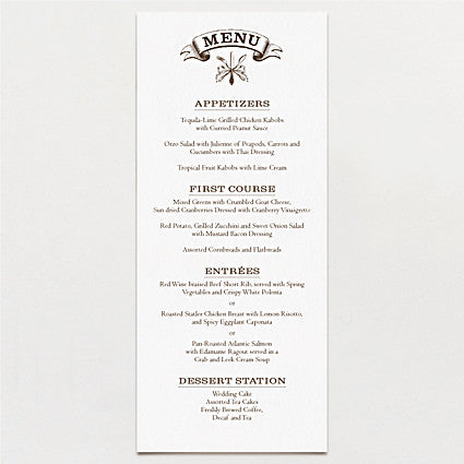 Kindred Spirits Menu