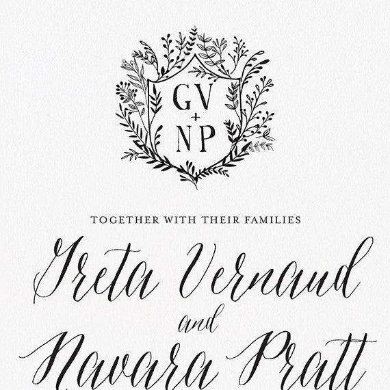Laurel Crest Wedding Invitation