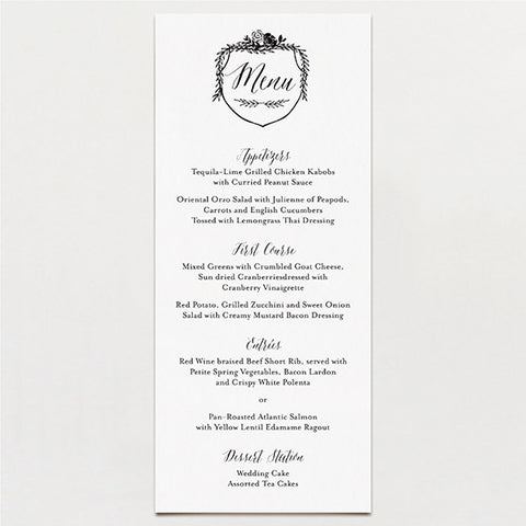 Laurel Crest Menu