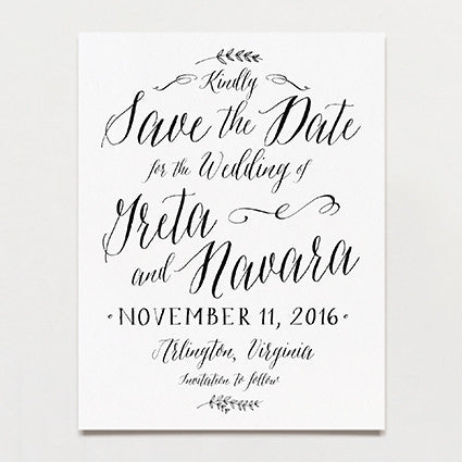 Laurel Save The Date Postcard