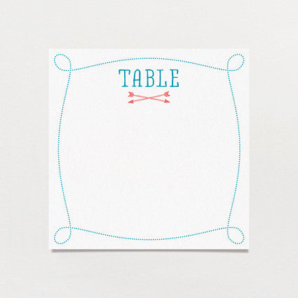 Little Details Table Number